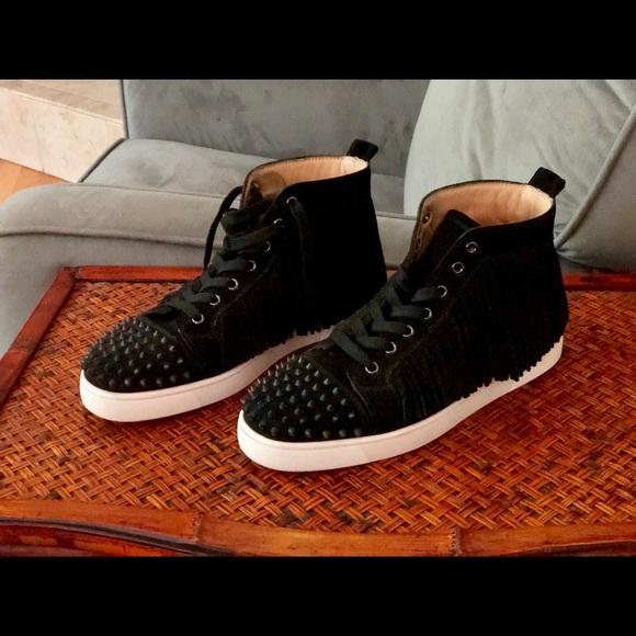 the latest 6b1e9 5f002 Christian Louboutin Coachelito sneakers black 9.5